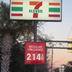 Seven Eleven with well priced gas at the corner