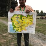 Mr Chom giving detailed description of the Angkor history