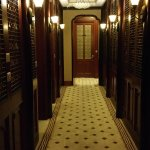 A glorious hallway in this art deco masterpiece.