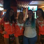 Myself with some waitresses