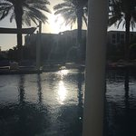 Sunrise, with coffee,  next to the pool over looking the sea. Could you ask for more than this?!