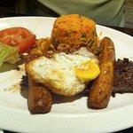 Steak, Egg, Tomato
