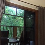 Room has a small balcony overlooking the greenery