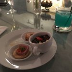 Drinks and canpes at theSerenity Club 19 Lounge