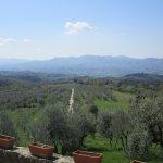 La vista dalla villa Trebbiali
