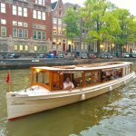 """Typical """"Salon"""" boat of Amsterdam built around 1900 and used for our Classic canal Cruise"""