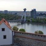 Impressive viev from the castle to Danube