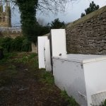 "Morning entrance view; ""Rusty Fridges and Tideswell Church"""