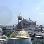View from roof restaurant Deli Cieux on top of Printemps store