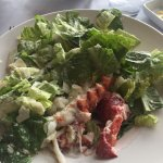 Cezar salad with lobster