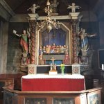 The altar of the wooden church.
