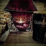 Guinness by the fire :)