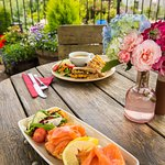 Food outside on the patio, when the weather's right!