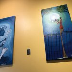 Lots of jazz/New Orleans artwork puts you in the mood for good eats.