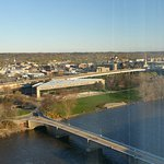 16th floor facing Grand River and the Gerald R. Ford Presidential Museum (triangle-shaped buildi