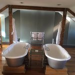 The gorgeous bathroom in the Moet suite