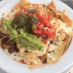 Nachos at our beach chair