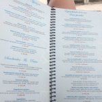 Lunch menu- beach club