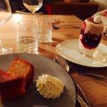 les desserts : Baba au Calva et Mont Blanc