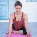Yin yoga in Santorini