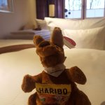 A nice touch - toy kangaroos and sweets on our children's beds