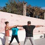 Private hatha yoga in Santorini
