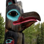 Coast totem - one of several outside the center.