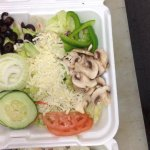 one of our many salads, perfect for a light lunch in house or to-go.