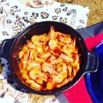 Prawns cooked on beach in Mozambique