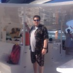 Me on the catamaran during the return leg of our journey.
