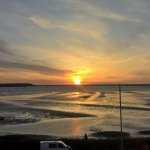 View of sunset across Poole Harbour