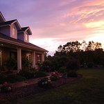 A beautiful sunset welcomes guests home for the night
