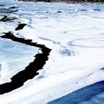Il lago di Livigno ghiacciato