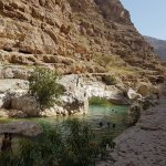 Wadi Shab start of the water pool