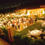 Mediterranean Lawn Night Reception