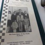 The menu cover