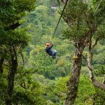 On one of the longer zip lines!