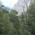 Vista dede el Circuito Chico (Se puede apreciar el precipicio por sobre la vegetacion)