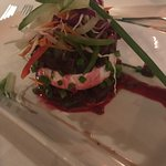 The oven roasted beet roots salad