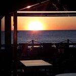 Magnifique coucher de soleil de la terrasse.