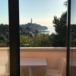 The view of Rovinj from our room