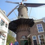 Windmill (het Slot) in the old town of Gouda