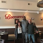 NFL Stars at Boccaccio! Fly eagles fly.