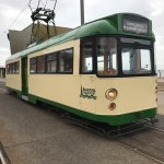 A traditional tramcar