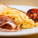 The tariff includes a cooked breakfast with tea, coffee and cerial