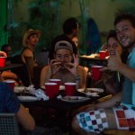 Guests enjoying a BBQ at the Hostel