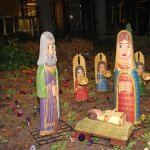 One of many nativities from various country on the Temple grounds in December