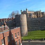 View of Windsor Castle from my window.