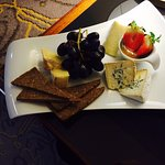Cheese board in room dining