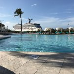 A delightful day at the British Colonial Hilton on a Resort for a Day pass while cruising with R